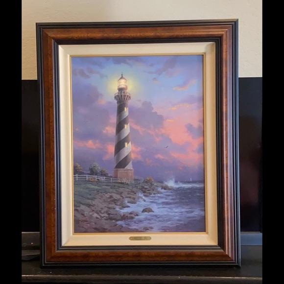 """Thomas Kinkade Other - Thomas Kinkade """"Cape Hatteras Lighthouse"""""""